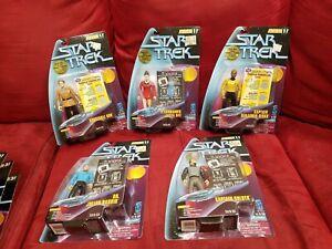 Star-Trek-Warp-Factor-Series-1-New-Sealed-Complete-Set-Playmates-1997-toys
