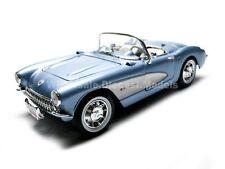 1957 CHEVROLET CORVETTE BLUE 1/18 DIECAST CAR MODEL BY ROAD SIGNATURE 92018