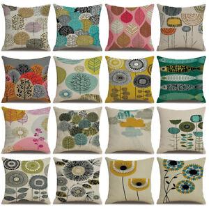 Am-Dandelion-Tree-Leaf-Linen-Pillow-Cover-Cushion-Case-Home-Car-Sofa-Decor-Nove
