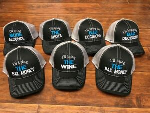baf8003b564ac Details about I'll bring the Alcohol Bad Decisions embroidered hat trucker  New funny drinking