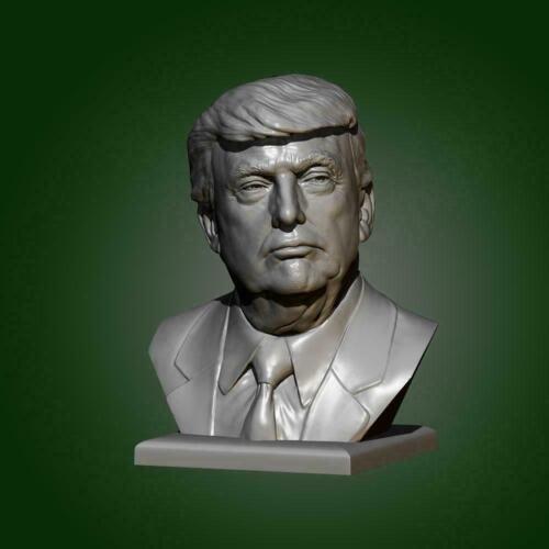 I5V9 1//35 55mm American Trump Bust Resin Soldat weiße Form