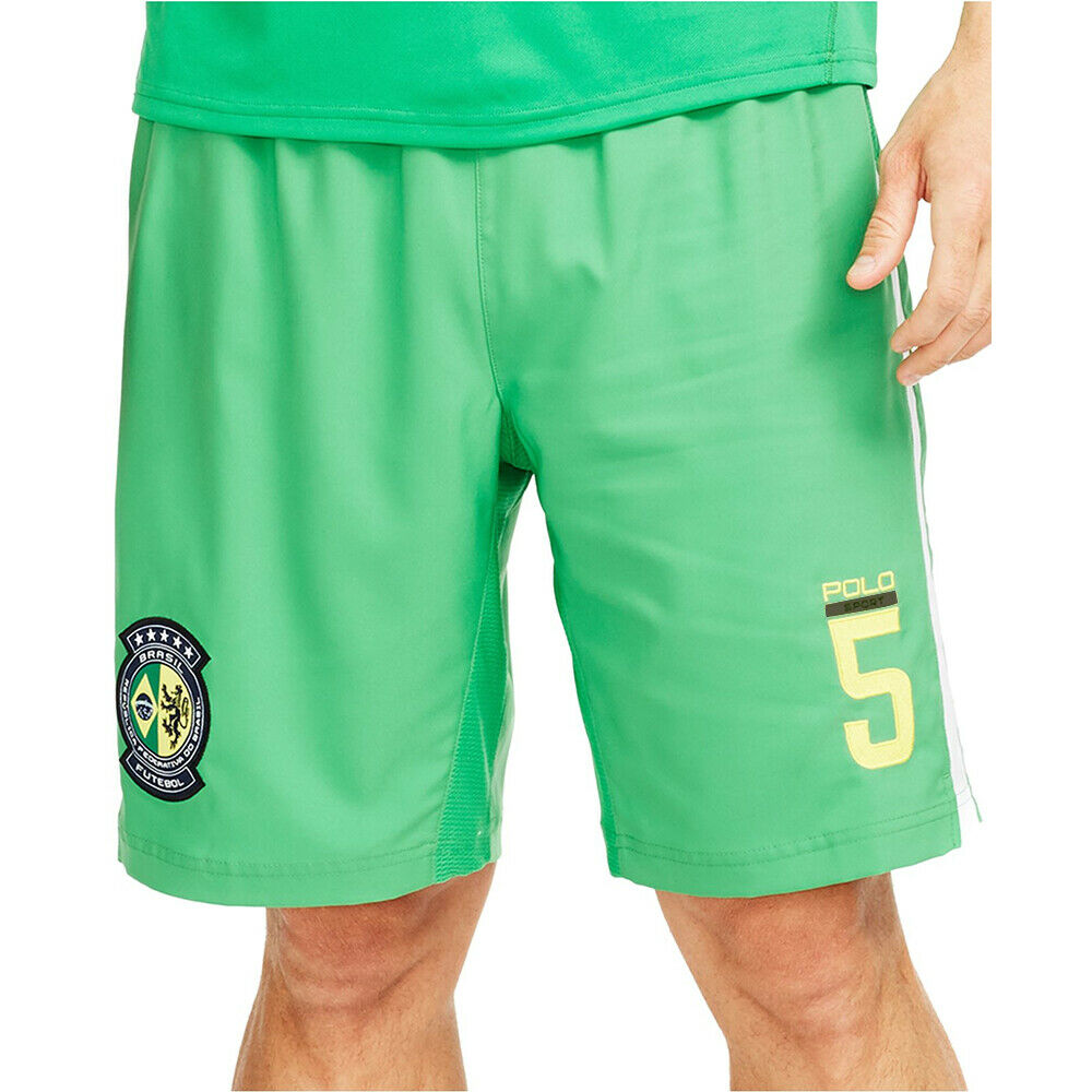 Polo Sport Ralph Lauren Everest Green Brazil Football Club Gym Shorts