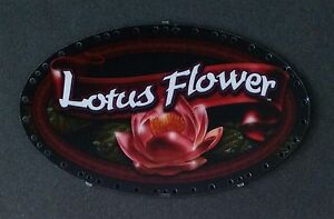 Igt Slot Machine Oval Topper Insert Lotus Flower Ebay