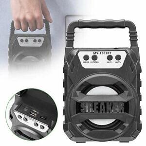 RADIO STEREO PORTATILE LETTORE MP3 FM SD CARD USB LED RGB