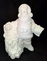 Gare 3773 - Christmas Santa With Wheelchair - Ready To Paint Ceramic Bisque
