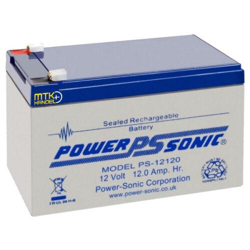 POWERSONIC PS12120 12V 12Ah AGM AKKU BATTERIE VDS kom.10Ah 11Ah 13Ah 14Ah 15Ah