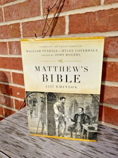 Sealed! Matthew's Bible: 1537 Edition Hardcover w Dust Jacket Biblical History