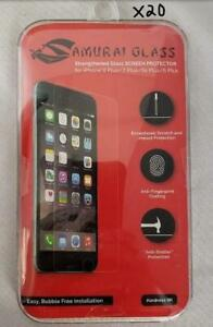 = Lot of 20 Samurai Glass Screen Protector iPhone 8 Plus 7 Plus 6s Plus 6 Plus