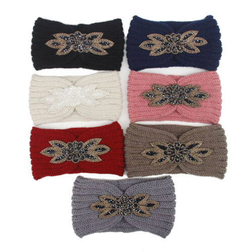 Casual Women Knitted Headbands Winter Warm Head Wrap Wide Hair Band Accessories