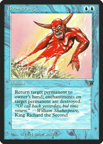 1x Boomerang-Legends Magic the Gathering Magic Pistolets mitrailleurs