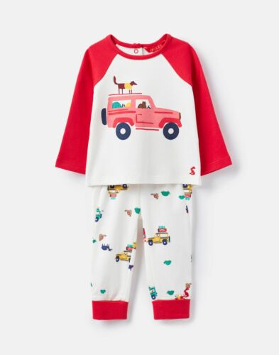 Joules Baby Boys 207317 Novelty Top And Trouser Set Cream Scout