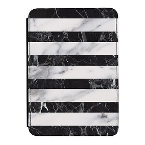 Black-amp-Grey-Marble-Stripes-Kindle-Paperwhite-Touch-PU-Leather-Flip-Case-Cover