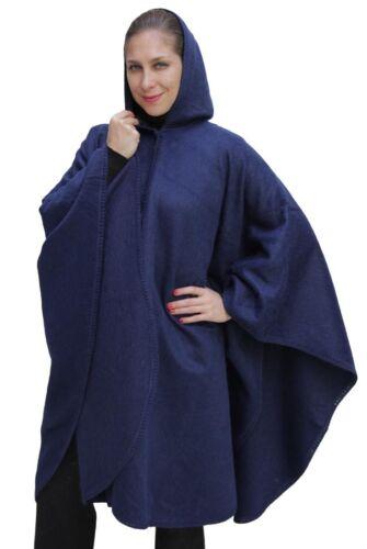 cappuccio di di alpaca lana Mantello con di mantello qcFZwWUaX
