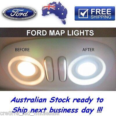 *NEW* MEGA WHITE Ford Map Lights LED Upgrade Falcon XT AU BA BF FG XR6 XR8 FPV