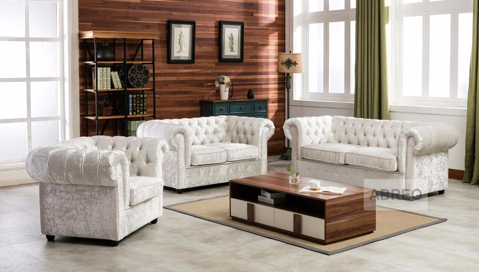 Details About Crushed Velvet Fabric Chesterfield Sofas 1 2 3 Seater Sofa  Seat Armchair Silver