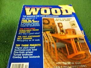 Image Is Loading Wood Magazine By Better Homes Amp Gardens April