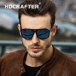8b8603cb14 Image is loading HDCRAFTER-square-sunglasses-men-polarized-shield-mirrored -sun-