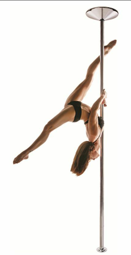 XPole X-PERT 45mm NX Spinning Static Dance Exercise X Pole Set Stainless Steel