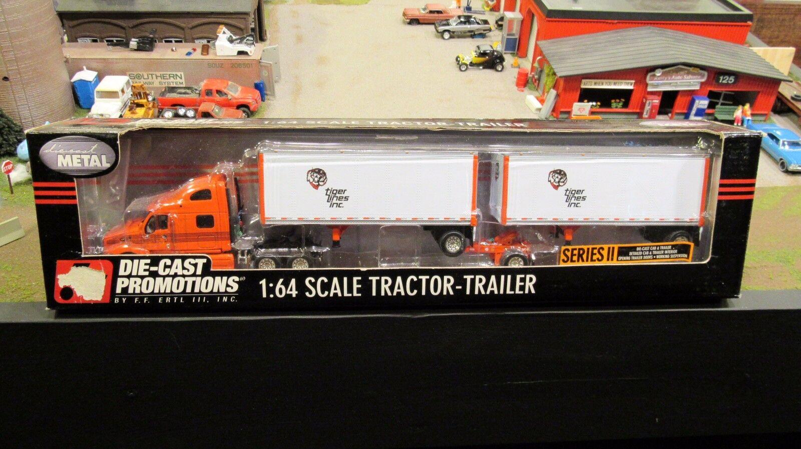 DCPTiger líneas Inc. Peterbilt Semi Camión 387 doble sistema de las crías 1 64