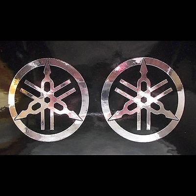 2x Aufkleber Sticker Yamaha Stimmgabel Chrom 0247 Ebay