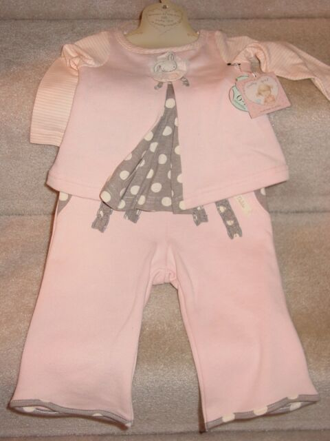 47e232d42f84 Bunnies by The Bay Pretty Girl Sweet Pleat Top   Pants Size 9 Months ...