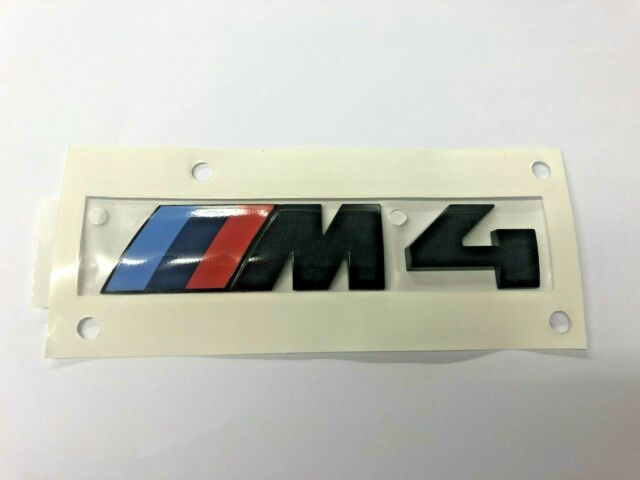Genuine BMW Black M4 Badge F82/F83 51148068579
