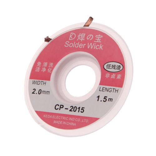 1 Pc Desoldering Braid Solder Remover Wick CP-2015 5 ft Width 2.0mm New CA