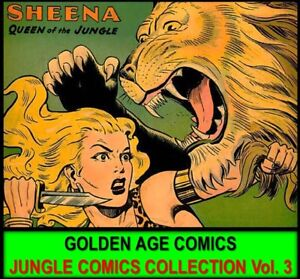 Golden-Age-FICTION-HOUSE-SHEENA-JUMBO-COMICS-Book-Lot-DVD-Jungle-Adventures-3