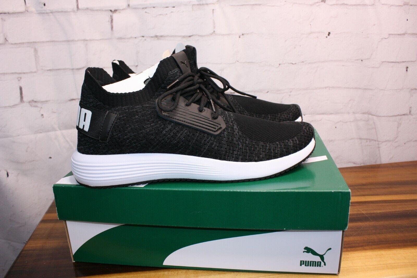 Puma Uprise Knit Zapatos Tenis Deportivas Negro blancoo Nuevo En Caja