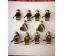 21 Pcs Soviet Soldiers USA UK Japanese Infantry Army China Army France Lego MOC