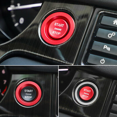 For Jaguar XF F-PACE E-PACE 2016-2018 Aluminum Start Stop Ignition Cover Trim
