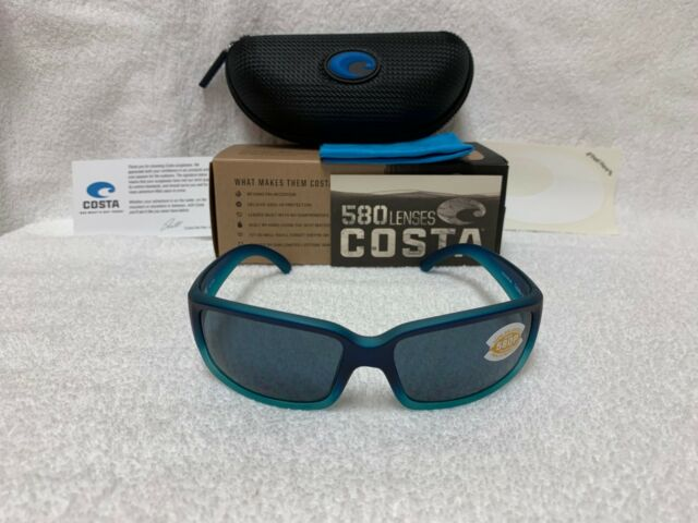 19f6a57ff655 NEW Costa Del Mar Caballito Polarized Sunglasses Caribbean Fade Gray 580 CL  73
