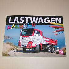 Lastwagen Scania, Tatra, Kamaz, Iveco, Faun, DAF, W 50 L, .... - Malbuch!