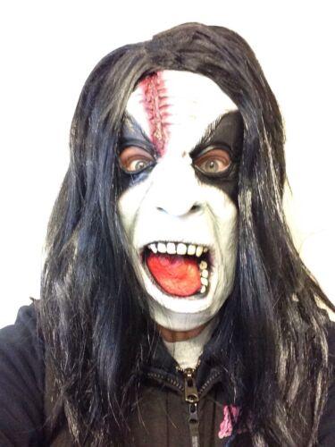 Abbath Style Mask Black Doom Metal Fancy Dress Black Wig Costume