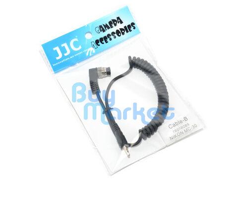Jjc cable-b interruptor Disparador Cable Adaptador Para Cámara Nikon sustituir Mc-30