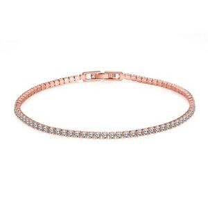 18K-Rose-Gold-Tone-Simulated-Crystal-Accent-Marquise-S-Tennis-Bracelet-in-Brass
