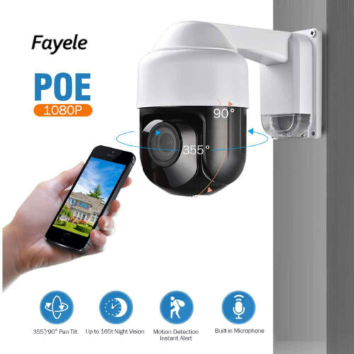 CCTV Security Mini POE 1080P IP PTZ Camera 2MP 4X zoom P2P IP66 Audio Mic ONVIF