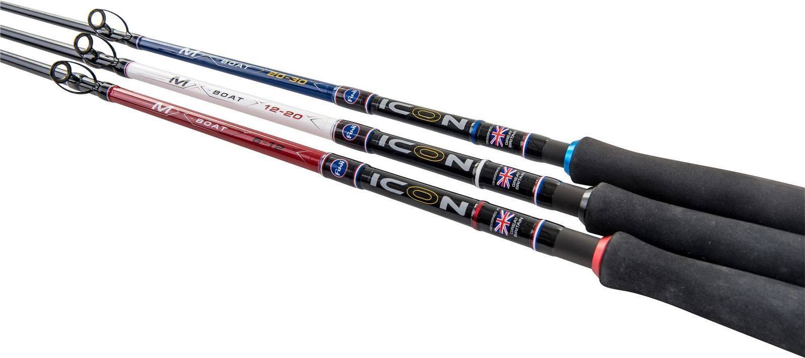 Leeda Icon New MX 7ft'6 & 8ft'4 2 Piece Boat Sea Fishing Rod - All Models