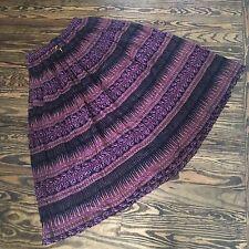 Vintage VTG 90s Cotton Gauze Indian Plum Boho Hippie Festival Maxi Skirt, Size L