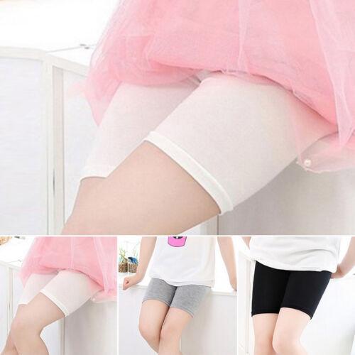 Kids Girls Elastic Safety Under Shorts Pants Leggings Render Yoga Sports Solid