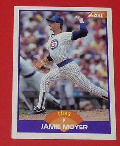 JAMIE MOYER CUBS CHICAGO BASEBALL CARD SCORE USA 1989