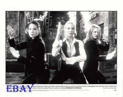 Lucy Liu Cameron Diaz Drew Barrymore VINTAGE Photo Charlie's Angels