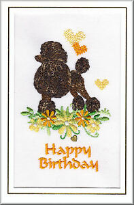 Standard poodle birthday card embroidered by dogmania ebay image is loading standard poodle birthday card embroidered by dogmania bookmarktalkfo Gallery