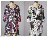 NEW LADIES BODEN LINEN LUPIN PRINT TUNIC DRESS SIZE 8 - 18 BNWOT