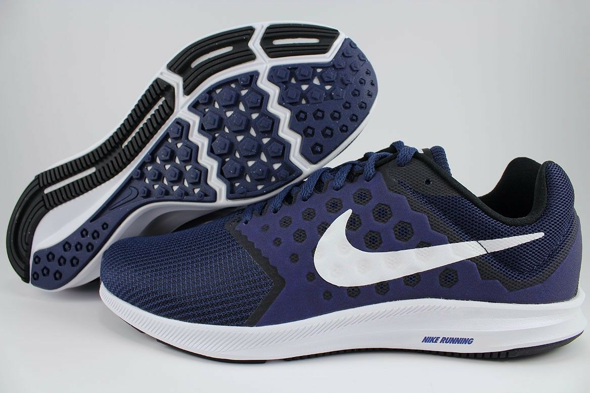 NIKE MEN'S SHOES DOWNSHIFTER 7 EXTRA WIDE 4E MIDNIGHT NAVY WHITE 852460 400