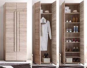 flur garderobe schuhschrank kleiderschrank eiche san remo diele schrank malea ebay. Black Bedroom Furniture Sets. Home Design Ideas