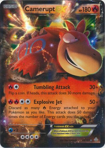 Holo Rare EX Card 29//160 Pokemon Primal Clash Camerupt-EX