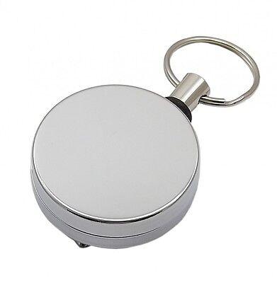 Rollmatik Schlüsselrolle Jojo Schlüsselanhänger Rollmatic Silber//Silber