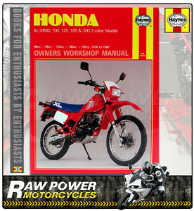 honda xr200 195cc 1980 haynes manual 0566 ebay rh ebay co uk 2002 honda xr200 repair manual 2002 XR200 Specs