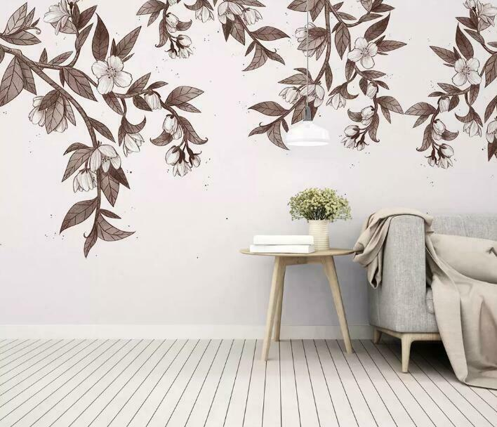 3D Kunst Blätter M1299 Tapete Wandbild Selbstklebend Abnehmbare Aufkleber Amy